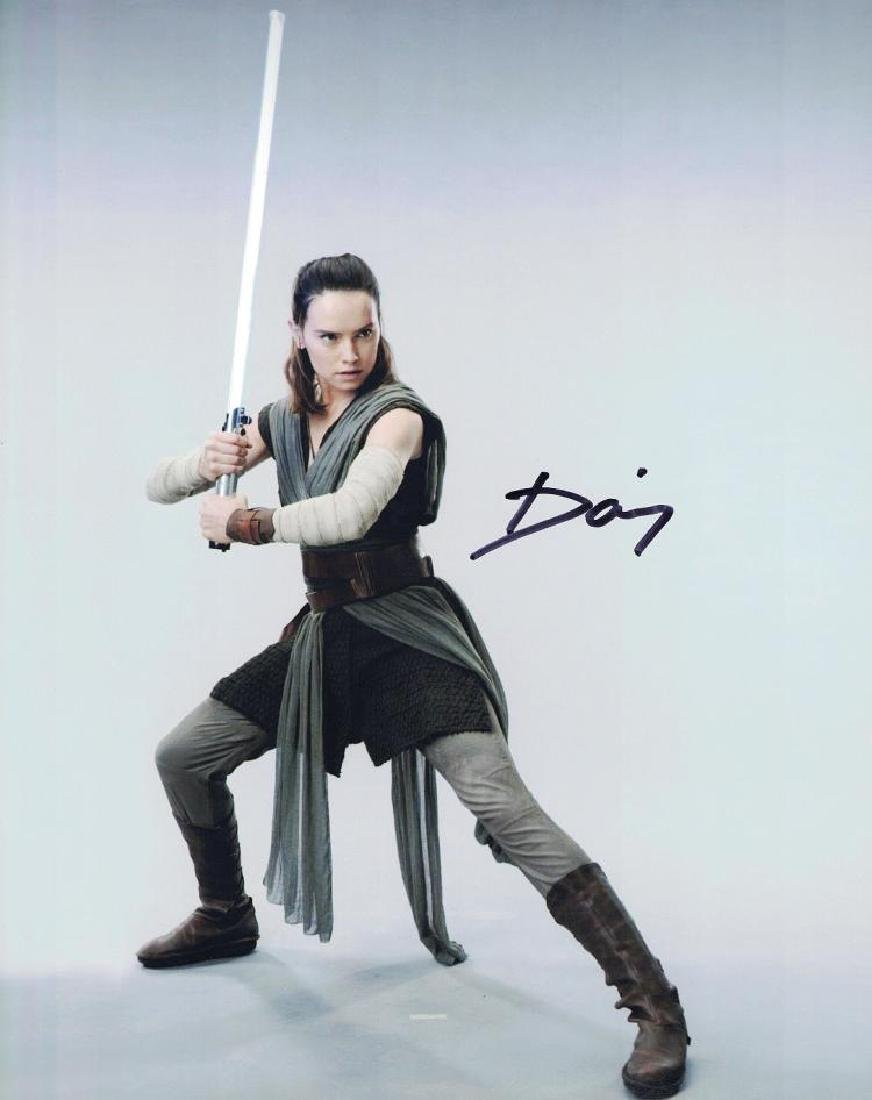 """Star Wars: The Last Jedi"" 'REY' Daisy Ridley Signed"