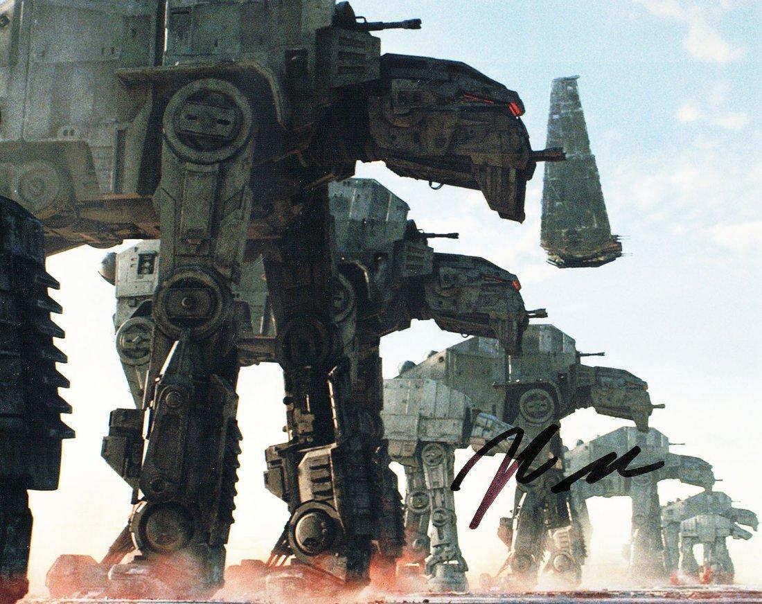 """STAR WARS: The Last Jedi"" Dir. Rian Johnson Signed"