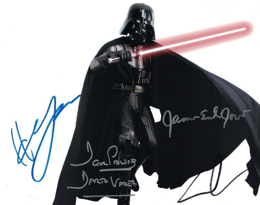 """STAR WARS"" - 'DARTH VADER' Signed 8x10 by ALL 3 +"