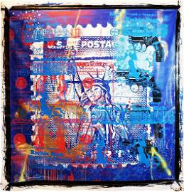 SHANE BOWDEN - 'Freedom' HUGE ORIGINAL Mix-Media on