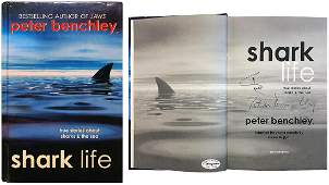 """PETER BENCHLEY """"Jaws"""" author signed book"""
