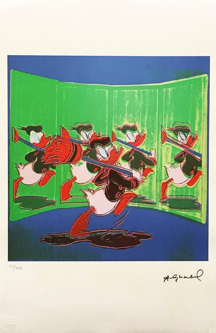 ANDY WARHOL 'Donald Duck' Limited Edition lithograph