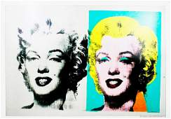 ANDY WARHOL  Vintage 1962 DOUBLEMARILYN lithograph