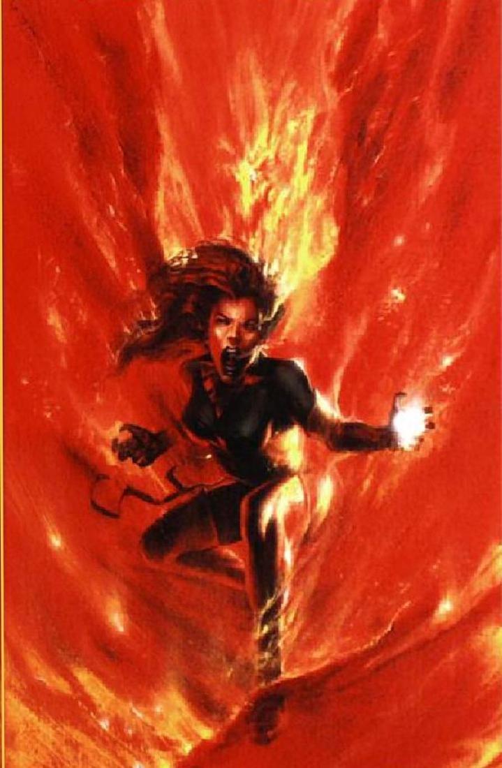 """'MARVEL'S Secret War' - """"Phoenix"""" fiery LE Giclee on"""