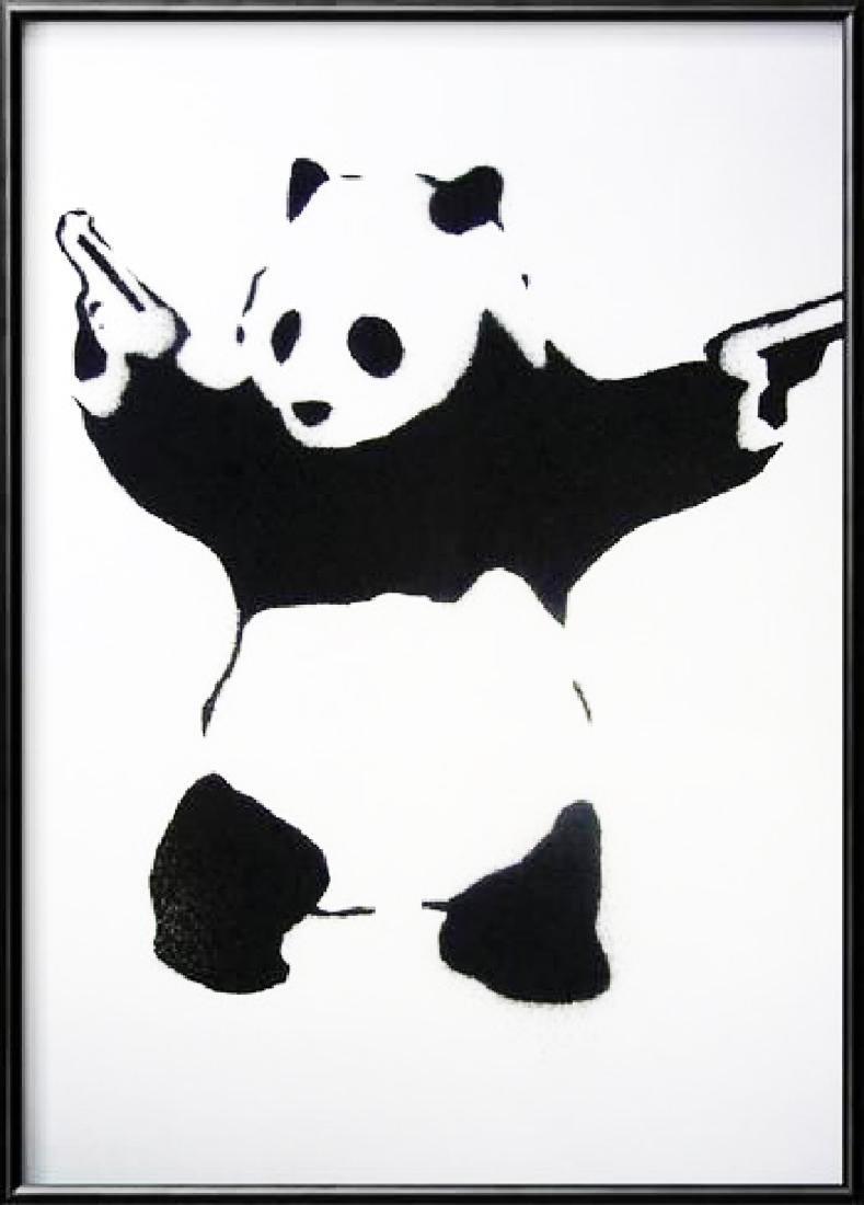 BANKSY - 'Pandamonium' Very Popular Offset Lithograph -