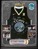 """2018 NBA CHAMPS """"Golden State Warriors"""" TEAM signed"""