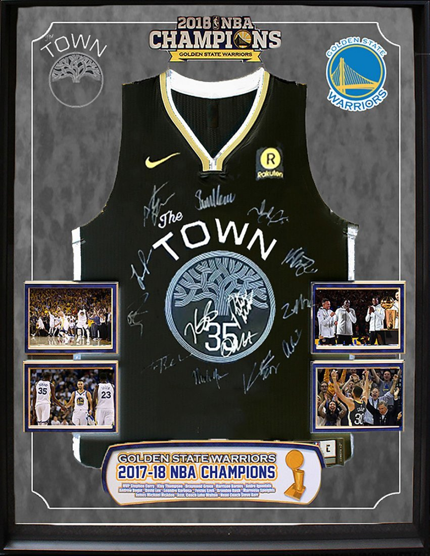 "2018 NBA CHAMPS ""Golden State Warriors"" TEAM signed"