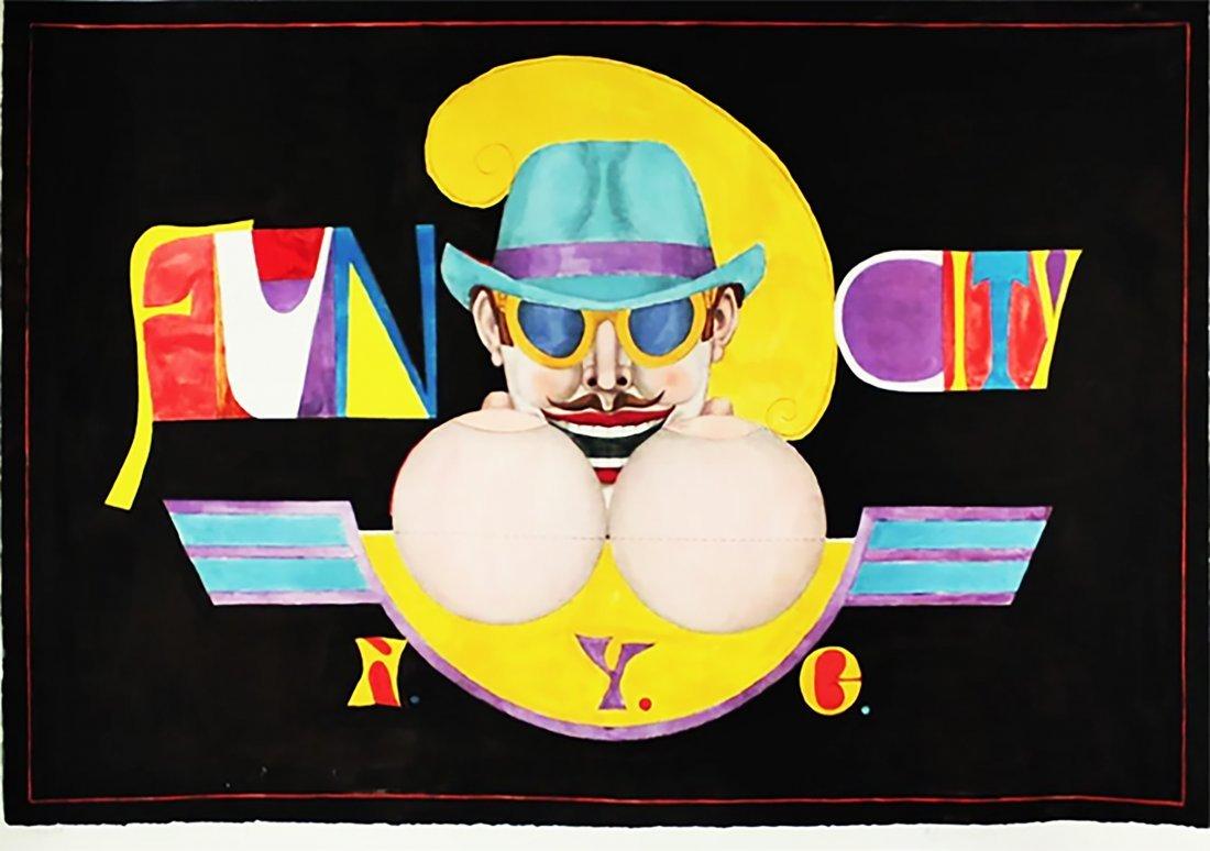 RICHARD LINDNER - 'Fun City NYC' RARE, H/S #175/175 LE