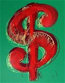 ANDY WARHOL  Dollar Sign green Original