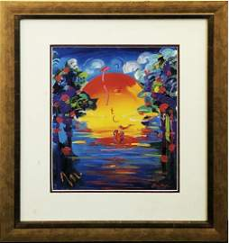 PETER MAX - 'A Better World' Colorful, Beautiful Litho