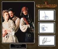 """""""PIRATES of the CARIBBEAN"""" - Cast Original Signature"""