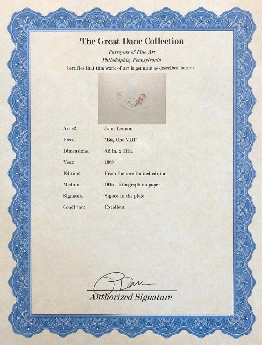 JOHN LENNON - 'Bag One' VIII RARE LE Lithograph - 3
