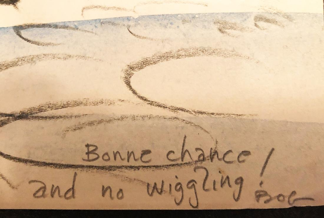 ROBERT OSBORN - 'Bon Voyage' ORIGINAL Crayon on Paper - 4