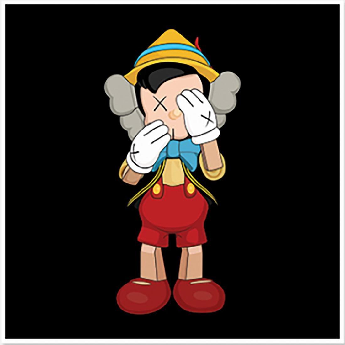 "KAWS - 'Pinocchio' Large RARE 35""x35"" Figurative print"