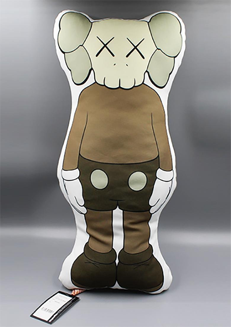 KAWS - BFF Companion (brown) Figurative Pillow!