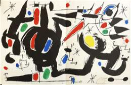 JOAN MIRO  Magnificent 2Page HS color Lithograph
