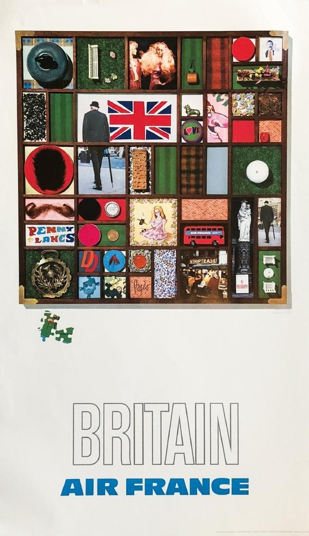 """""""AIR FRANCE"""" - Rare 1971 'Britain' Lithograph feat."""