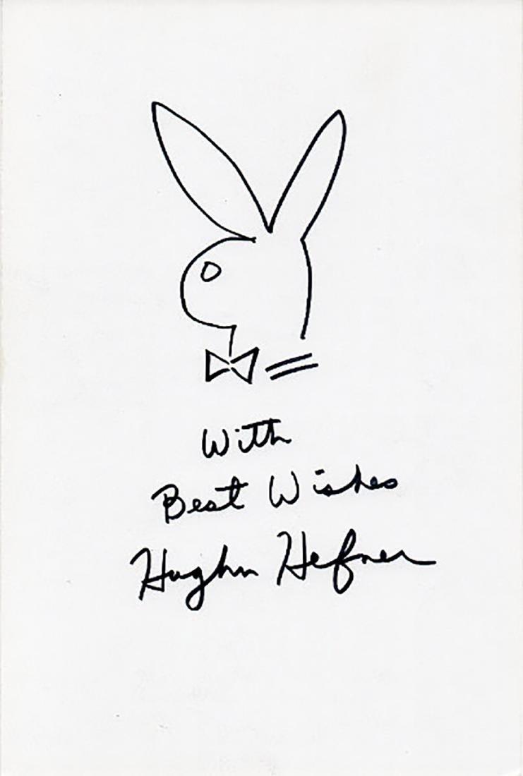 """PLAYBOY"" Founder Hugh Hefner Hand-Drawn 'BUNNY'"