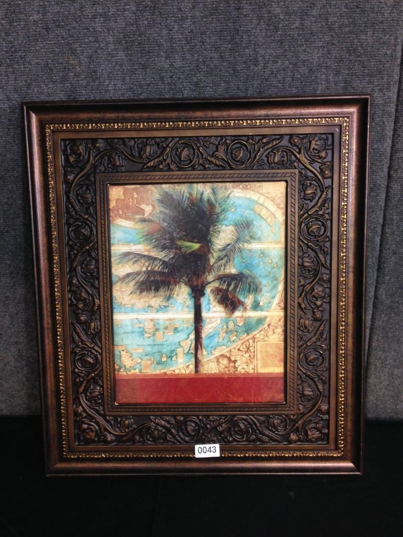 Tropical Tree Print with world
