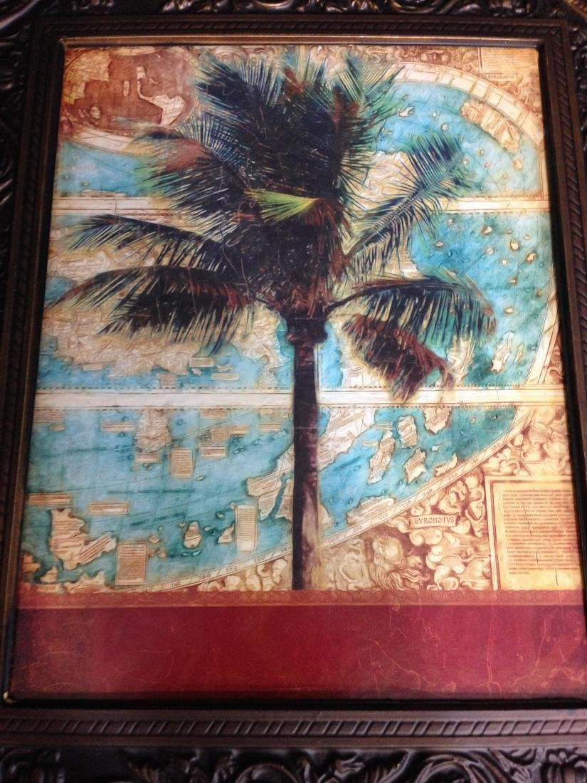 Tropical Tree Print with world - 2