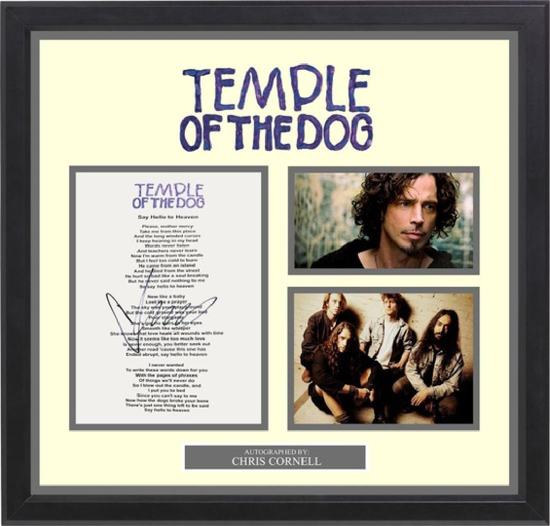 Temple of The Dog Signed Lyrics Say Hello To Heaven
