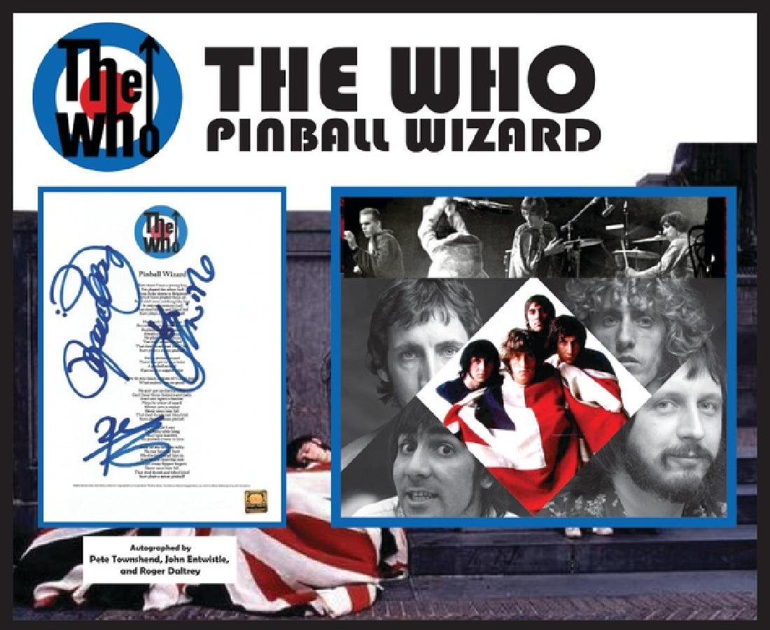 Who Pinball Wizard Signed Lyrics