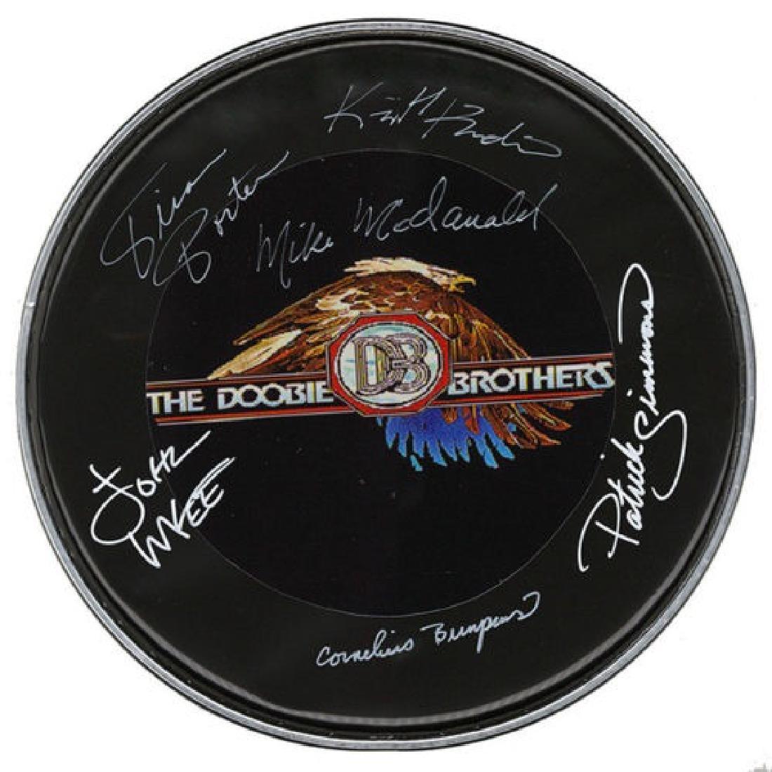 Doobie Brothers Autographed Drum Head