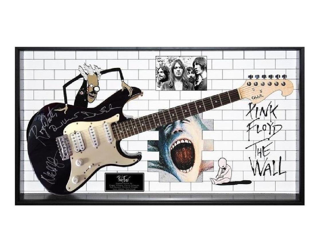 Pink Floyd Signed and Framed Guitar The Wall
