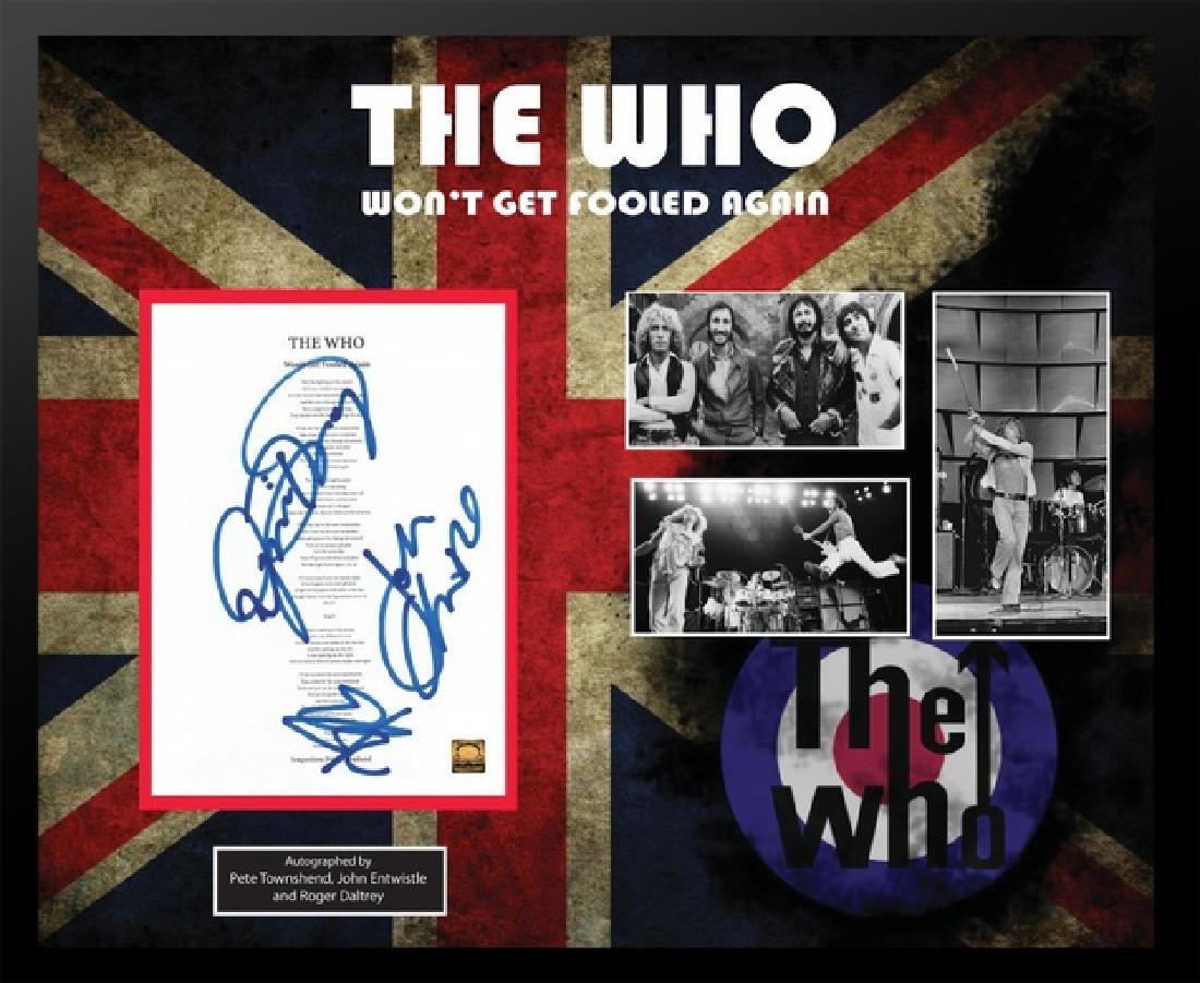 Who Won't Get Fooled Again Signed Lyrics