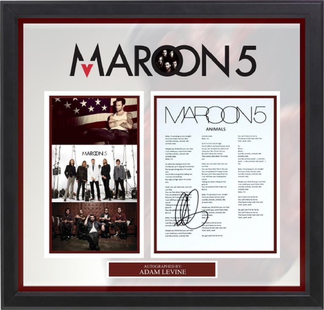 Maroon 5 Signed Lyrics Animals