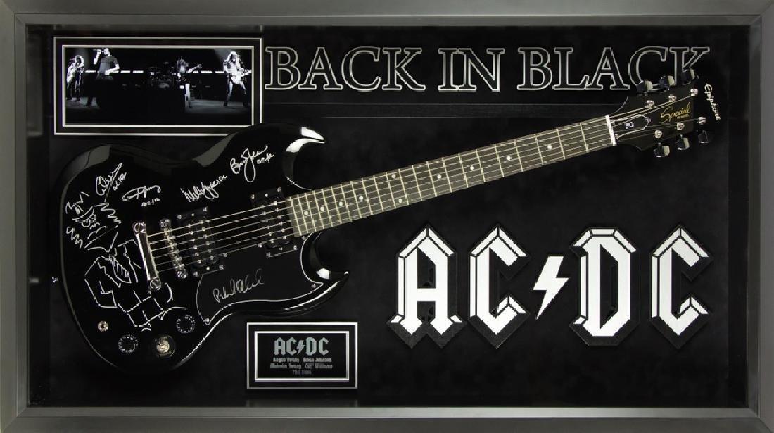 AC/DC  Signed and Framed Guitar