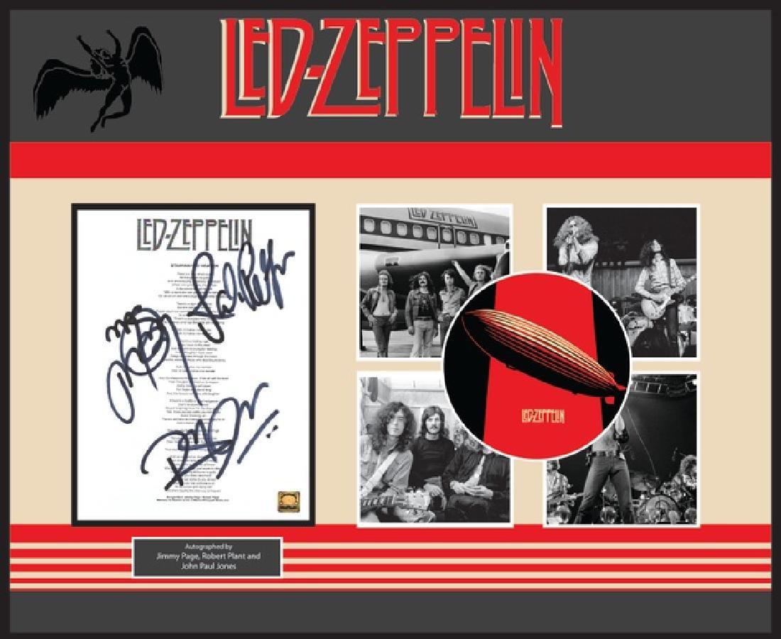 Led Zeppelin Stairway To Heaven Signed Lyrics