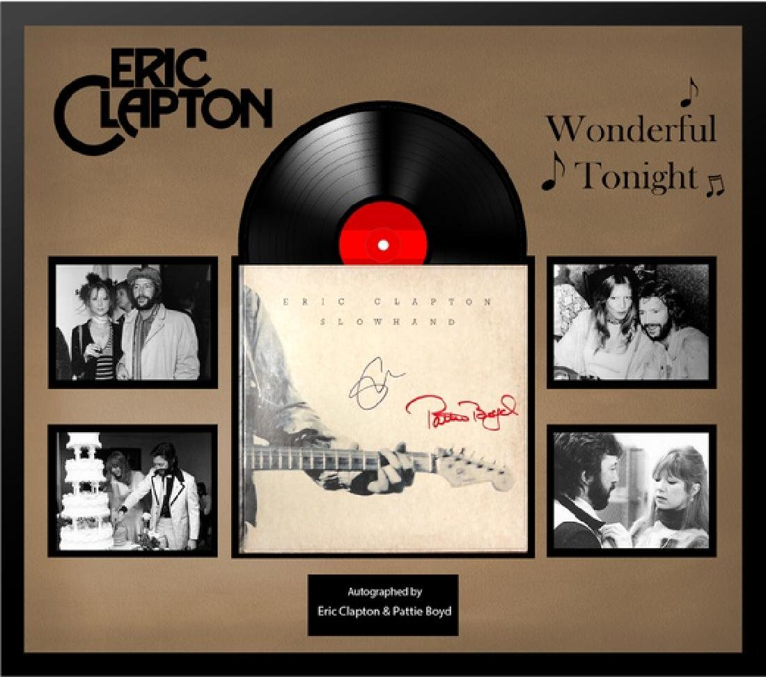 "Eric Clapton Signed Slow Hand Album ""Wonderful Tonight"""
