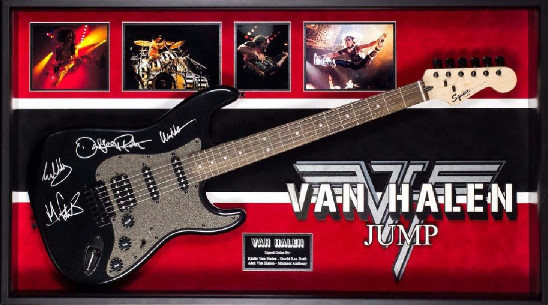 Van Halen Jump Signed and Framed Guitar