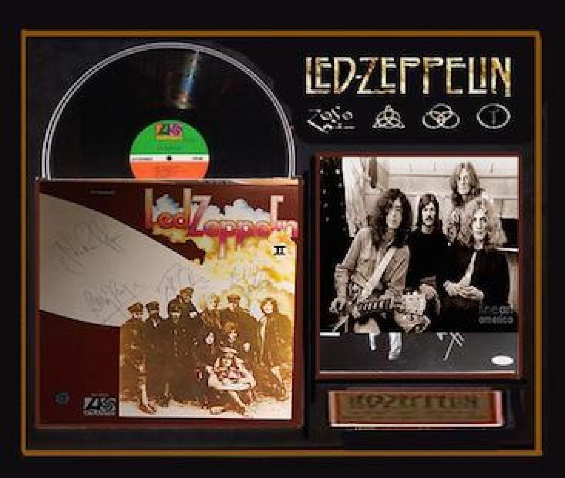 Led Zeppelin 2 Signed Framed Album