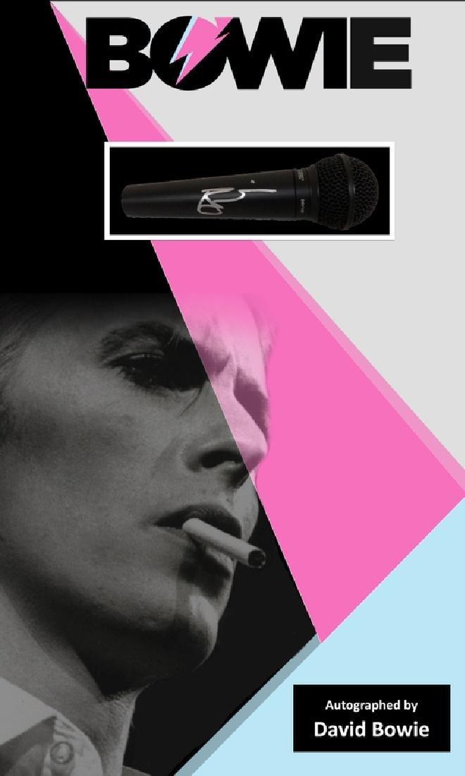 David Bowie Autographed Microphone
