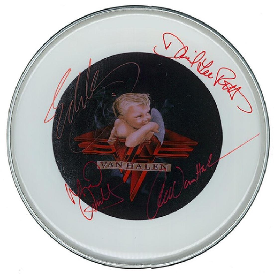Van Halen 1984 Signed Drum Head