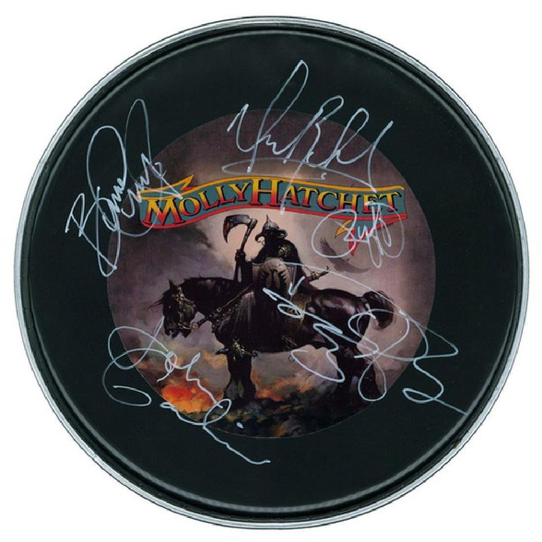 Molly Hatchett Signed Drum Head