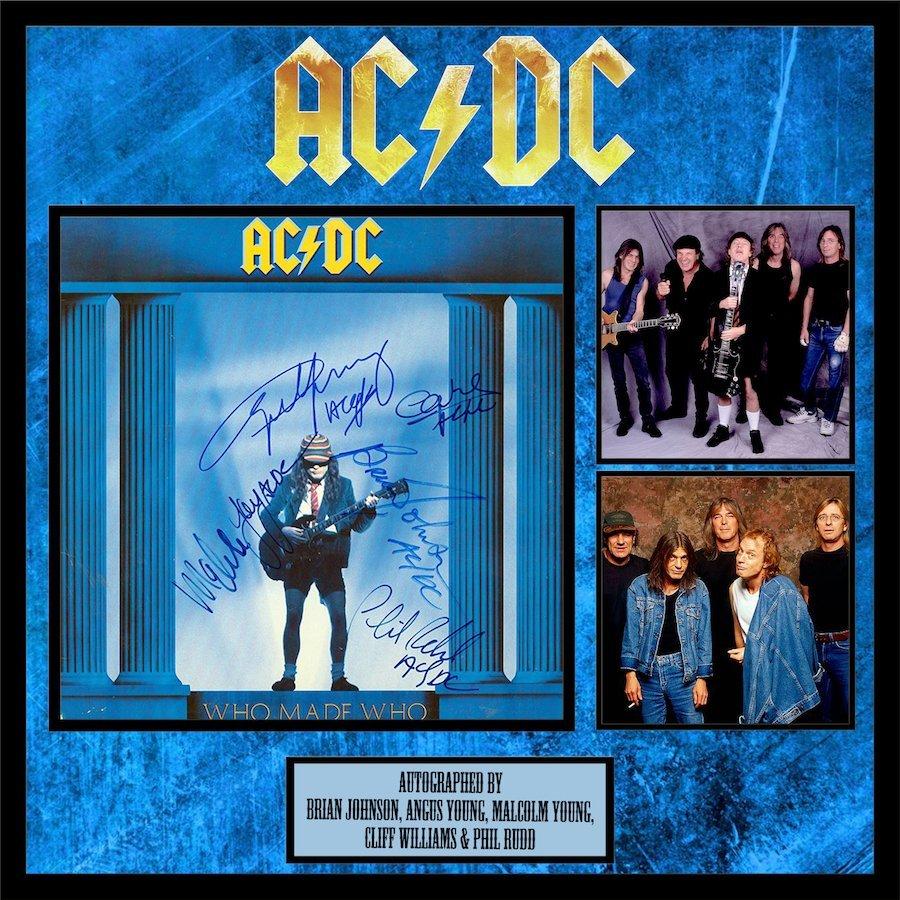 AC/DC Who Made Who Framed Album