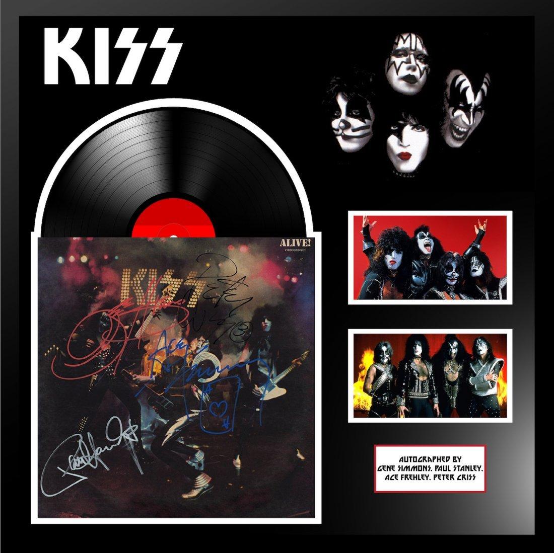 Kiss Alive Signed Framed Album