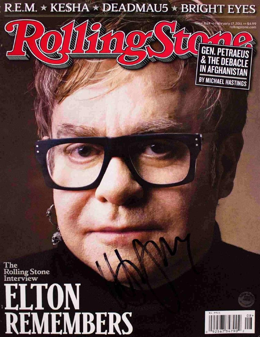 Elton John Autographed Rolling Stone Cover