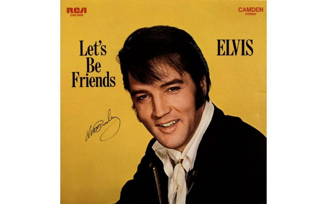 "Elvis Presley ""Let's Be Friends"" Signed Album"