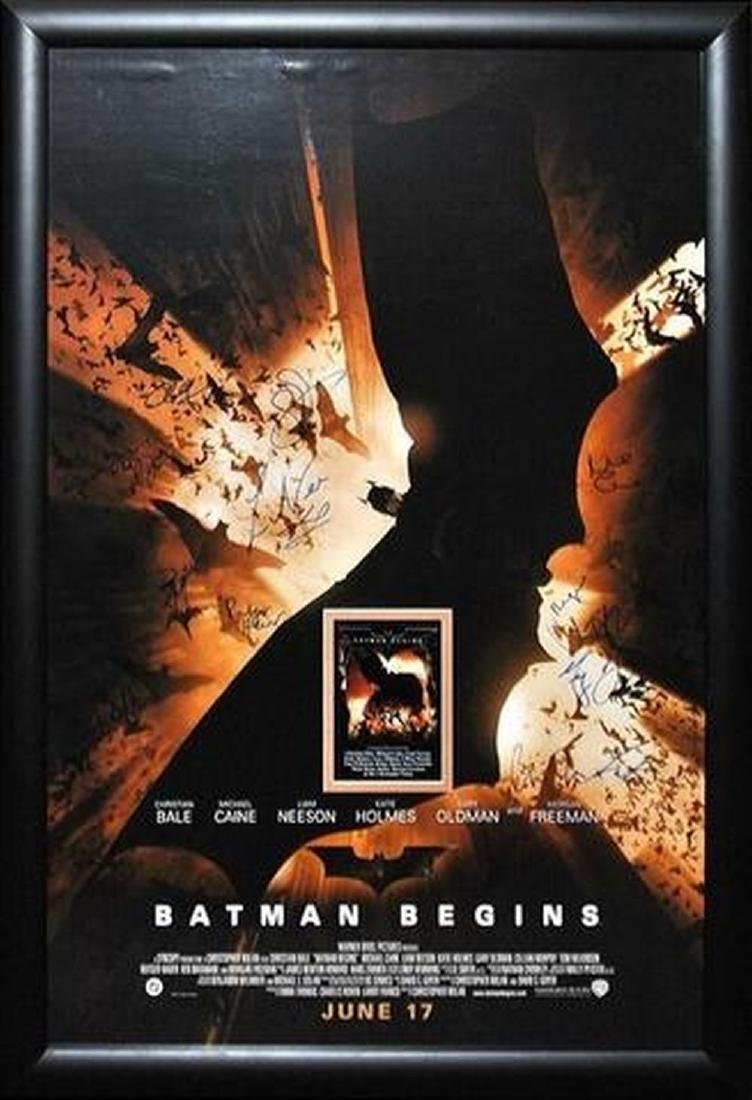 Batman Begins - Signed Movie Poster
