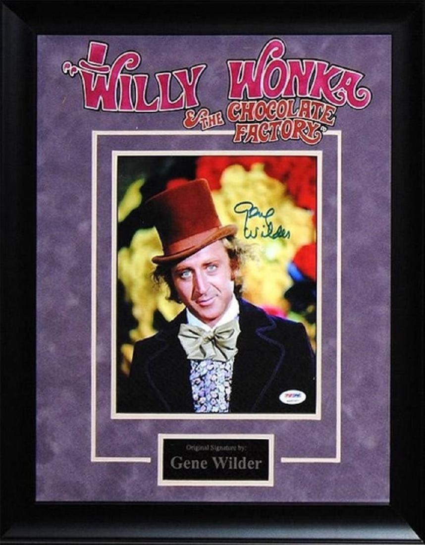 Gene Wilder Willy Wonka - Signed Poster in Wood Framed