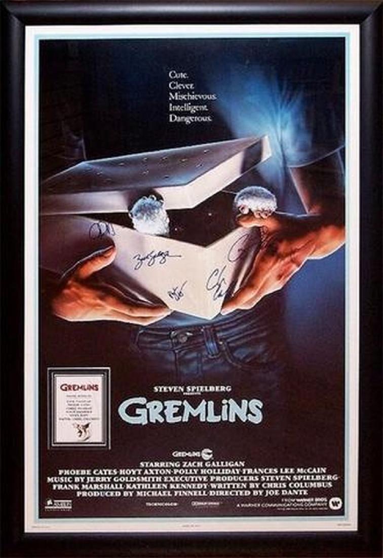 Gremlins - Signed Movie Poster