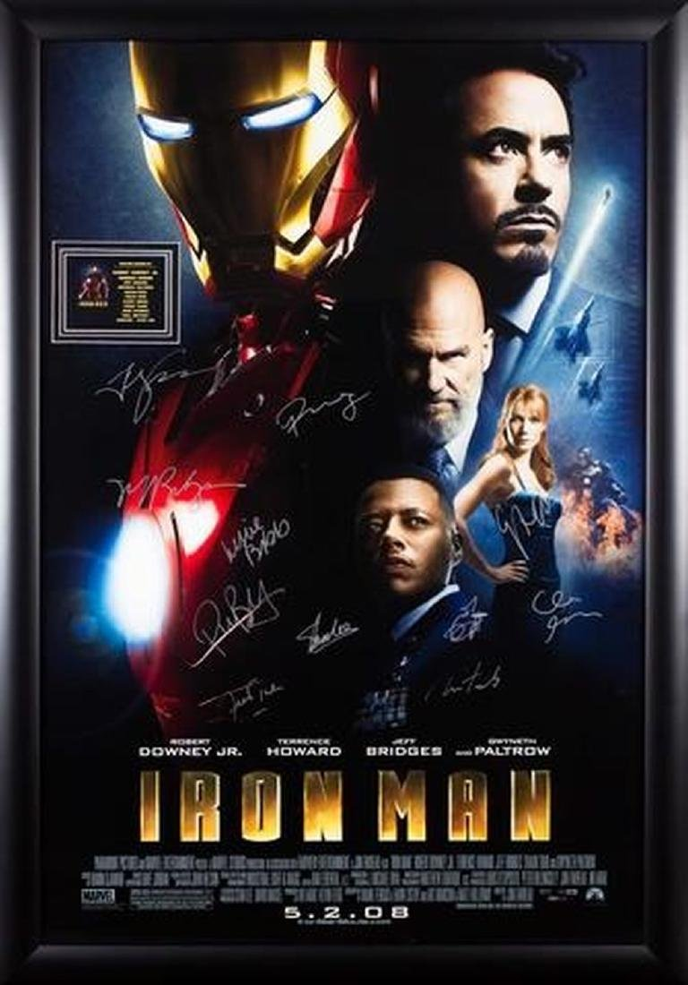 Iron Man - Cast Signed Movie Poster