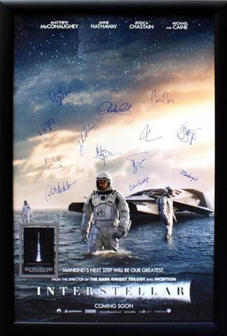 Interstellar - Signed Movie Poster