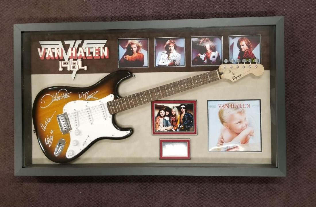 Van Halen 1984 Signed Guitar
