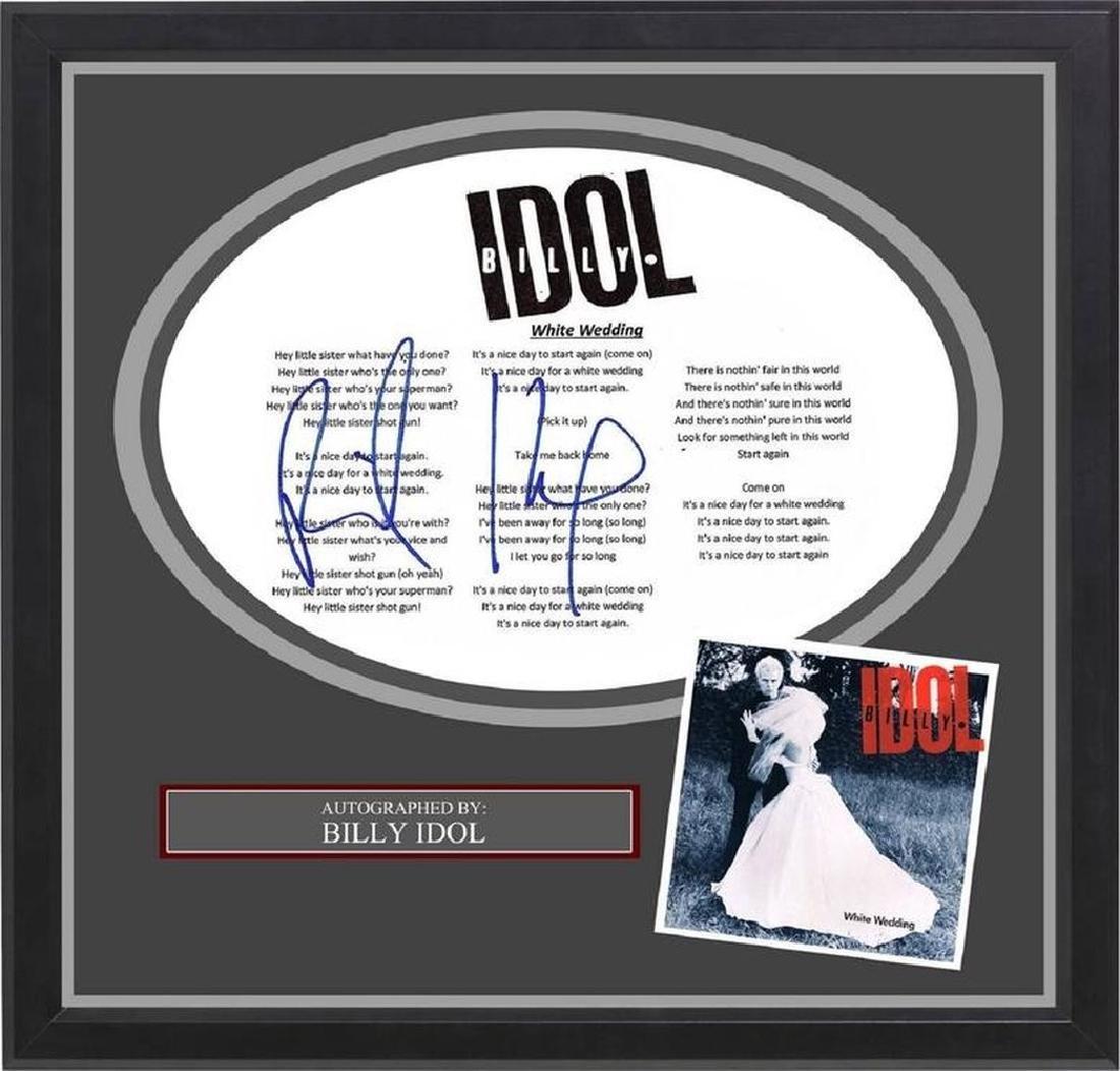Billy Idol Signed White Wedding Lyrics