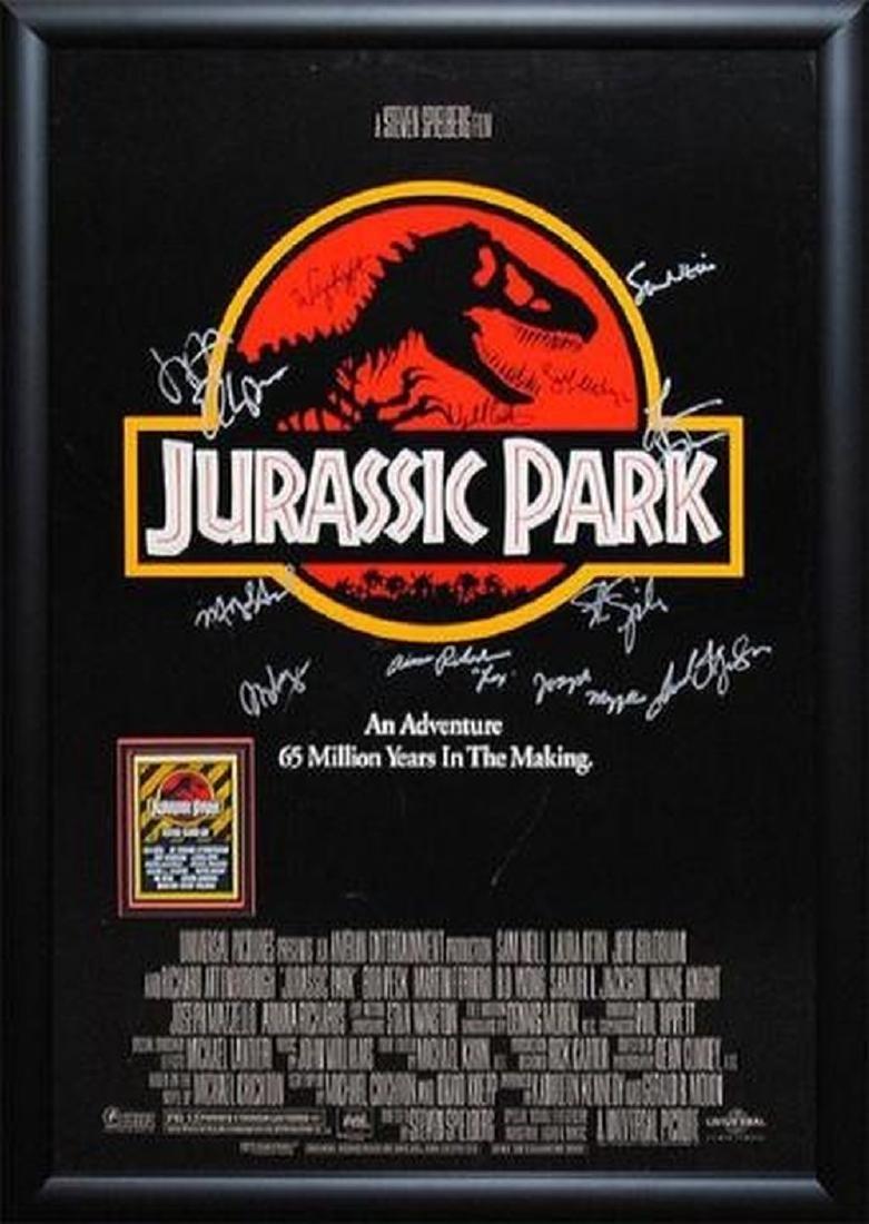 Jurassic Park - Signed Movie Poster